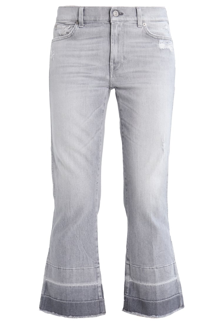 7 for all mankind Jeansy Bootcut cool grey destressed - SYRR560