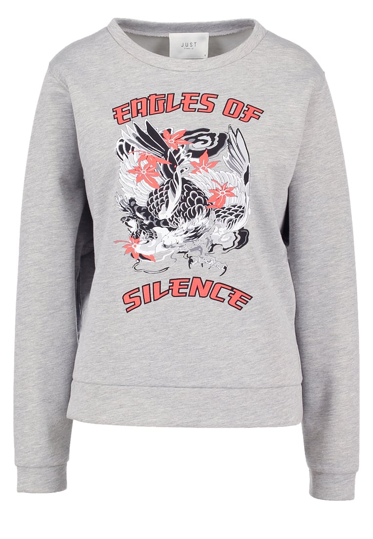 JUST FEMALE EAGLE Bluza grey melange - Eagle Sweat