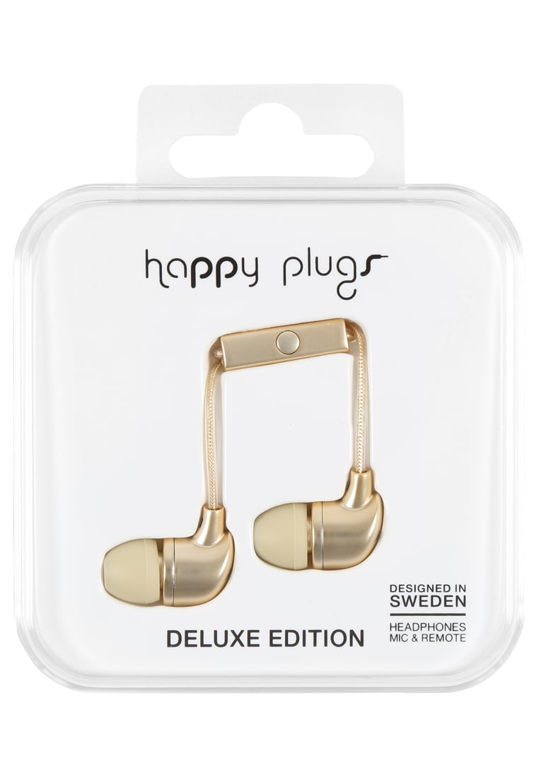Happy Plugs DELUXE Słuchawki champagne - Happy Plugs In-Ear Deluxe