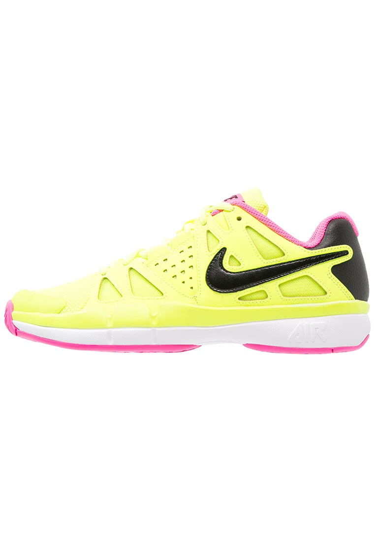 Nike Performance AIR VAPOR ADVANTAGE Buty do tenisa Outdoor volt/black/pink blast/white - 599364