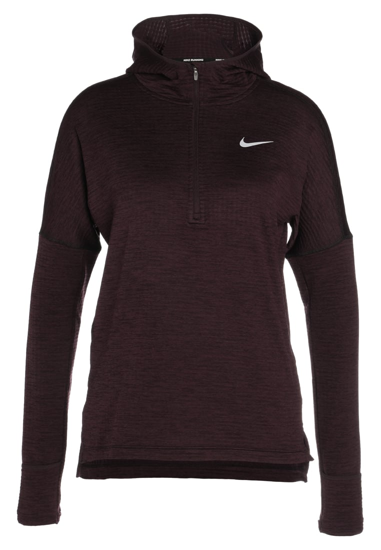 Nike Performance HOODIE Bluza rozpinana port wine/heather/silver