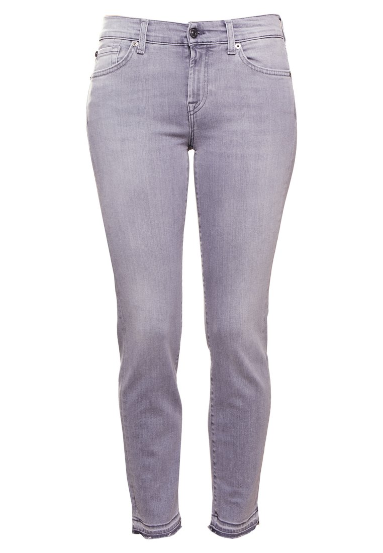 7 for all mankind MID RISE ROXANNE UNROLLED Jeansy Slim Fit illusion grey - JSLJK520LG