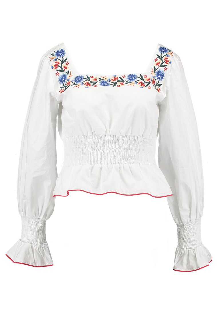Fashion Union BARBARY Bluzka white/red - FUML01463