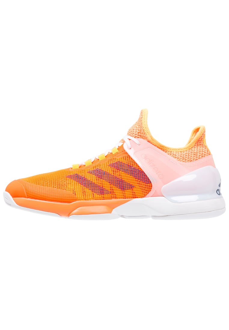 adidas Performance ADIZERO UBERSONIC 2 Buty do tenisa Outdoor glow orange/mystery blue/white - BEX56