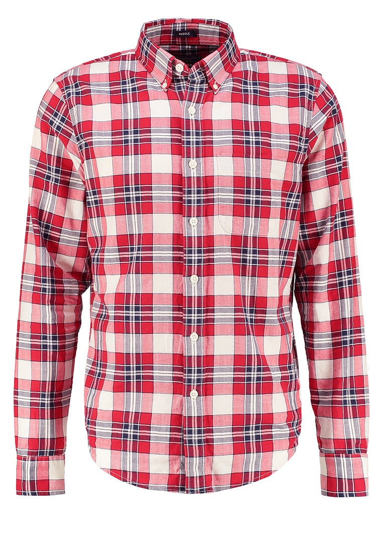 Abercrombie & Fitch MUSCLE FIT Koszula red plaid - KI125-6309
