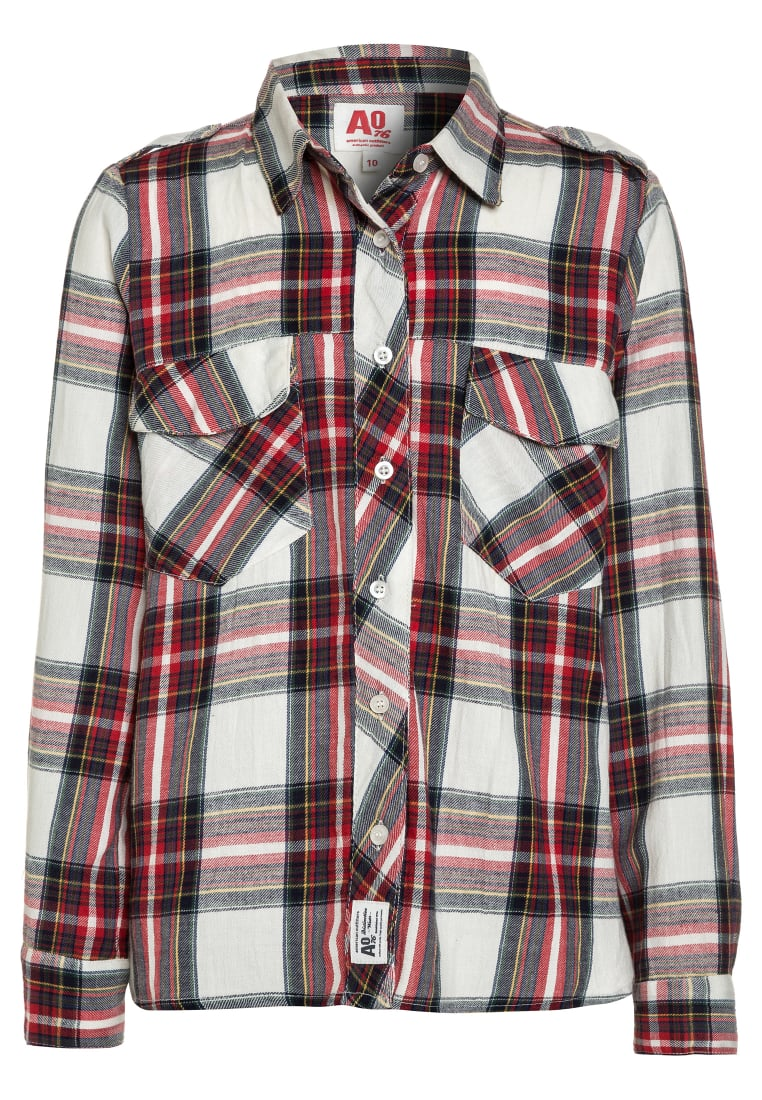 American Outfitters CHECK WIDE POCKET Koszula red - 217-1406