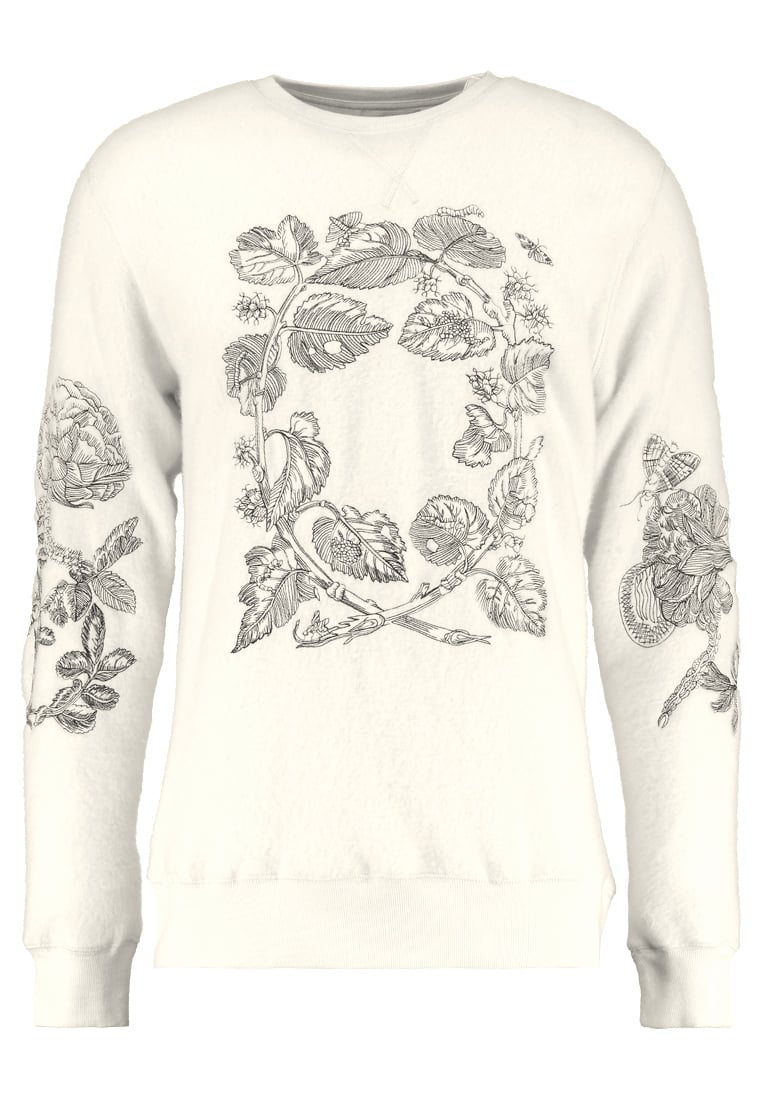 Soulland DAMIAN EMBROIDERY Sweter off white - 74-01-440