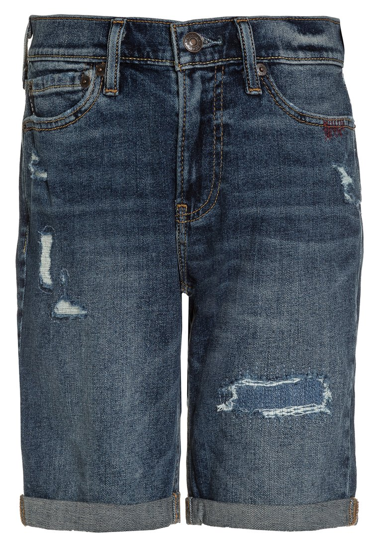 Abercrombie & Fitch Szorty jeansowe medium wash - KI228-8030