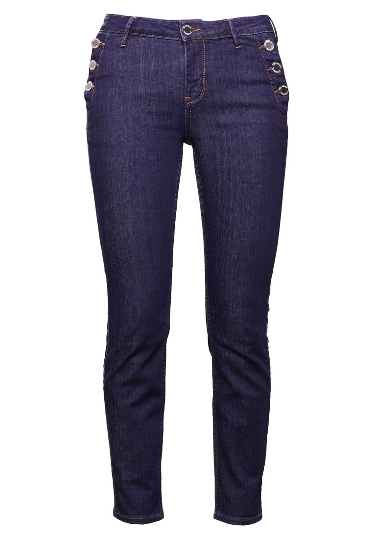 2nd Day SALLY CROPPED SAILOR Jeansy Slim Fit dark blue - 2181724064