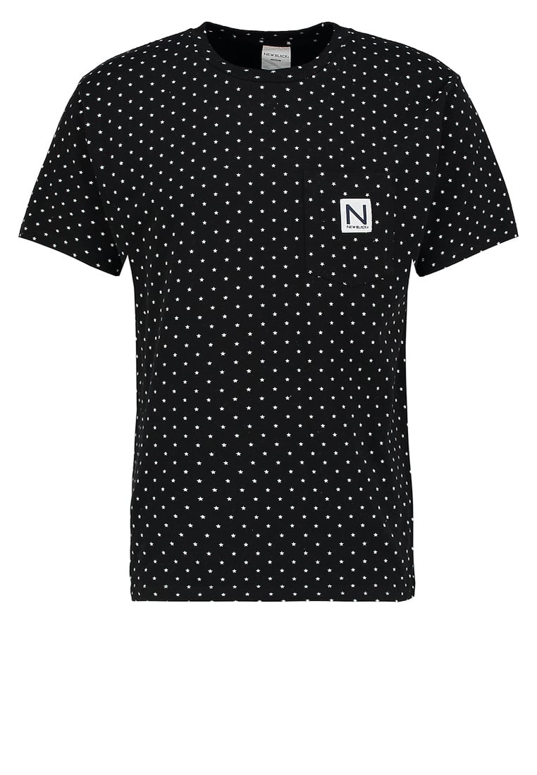New Black STAR Tshirt z nadrukiem black - Star Tee