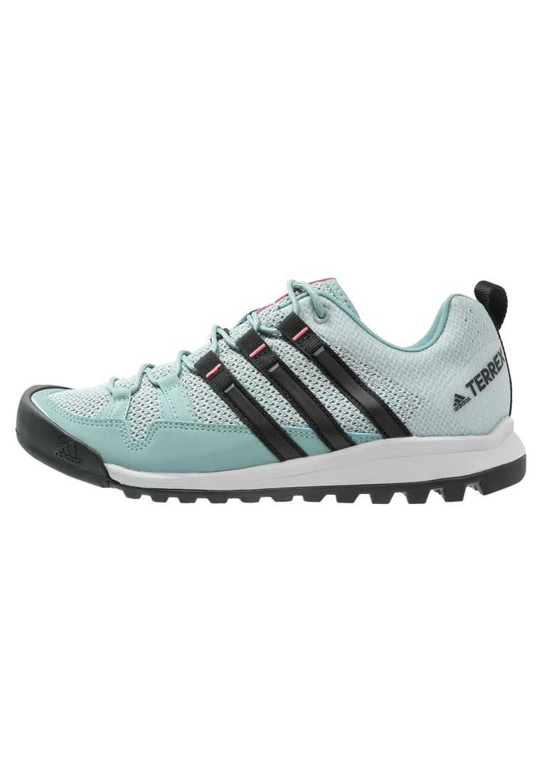 adidas Performance TERREX SOLO Buty wspinaczkowe vapour steel/core black/tactile pink - CEN70