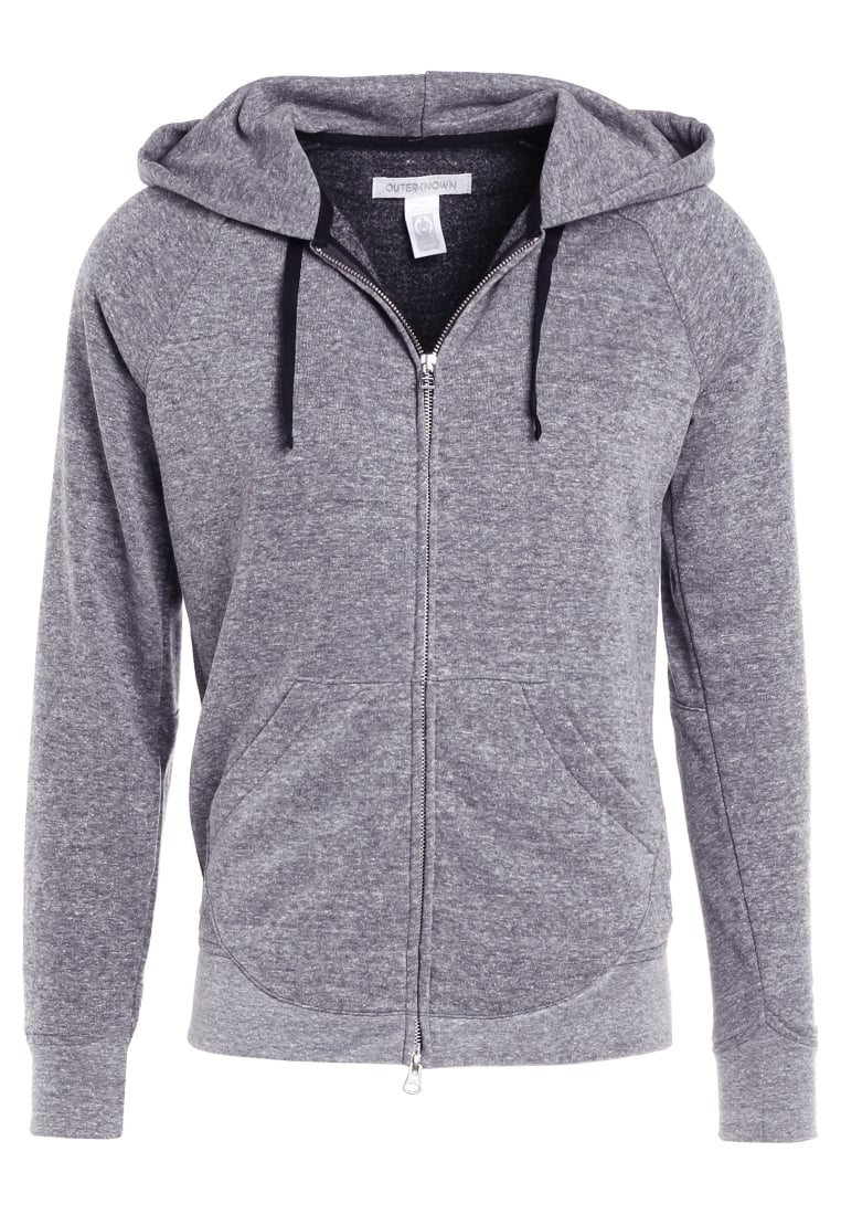 Outerknown CARRIE ON HOODIE Bluza rozpinana motted grey - 1250018