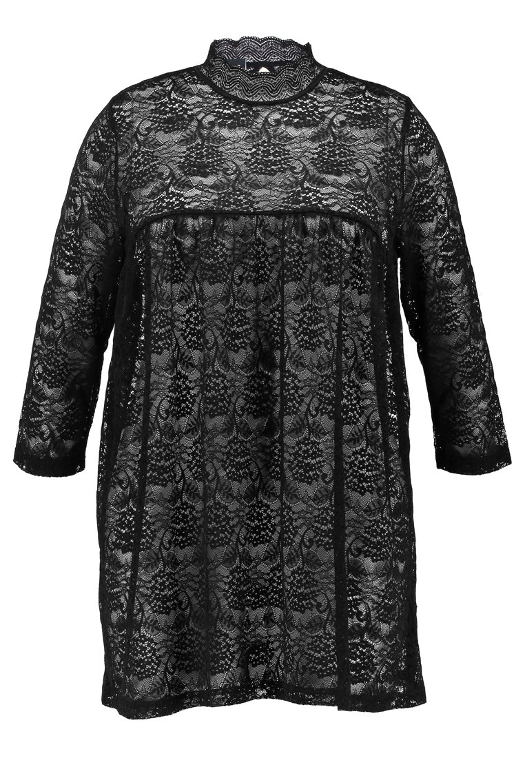 ADIA WITH NECK STAND UP COLLAR LONG SLEEVES ASHAPE Tunika black - 781472