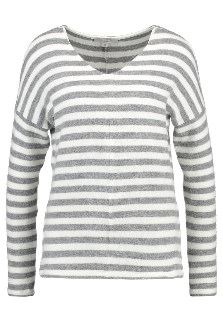 comma casual identity Sweter white stripes