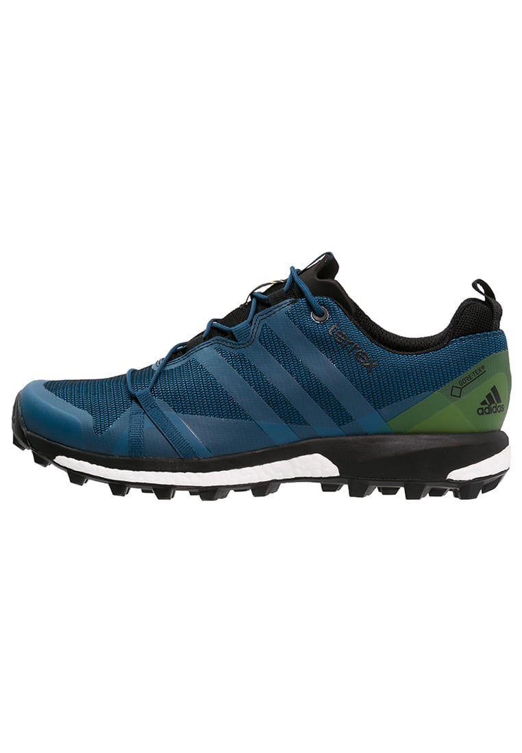 adidas Performance TERREX AGRAVIC GTX Półbuty trekkingowe tech steel/craft blue/unity lime - IUW25
