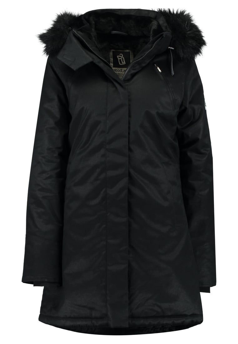 Hoodlamb LADIES NORDIC NIGHTWATCH Płaszcz zimowy black - LNP-N
