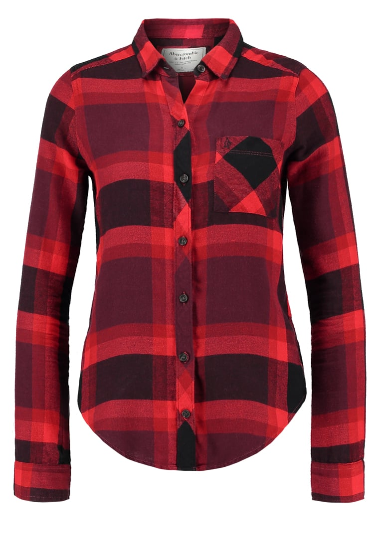 Abercrombie & Fitch XMAS Koszula red/black - KI140-6600