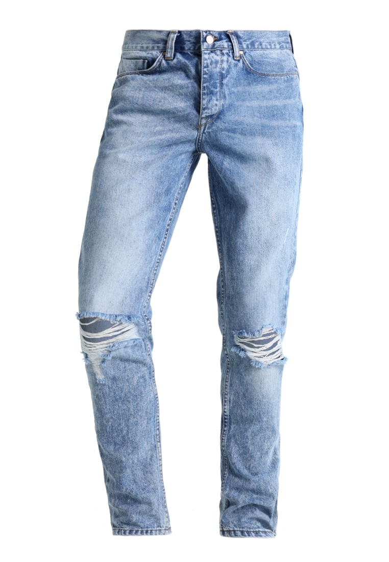 Antioch KNEE RIPS AND RAW Jeansy Relaxed fit light wash indigo - ANMDN0105IND