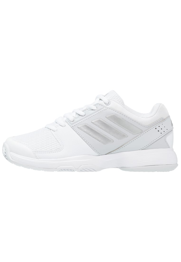 adidas Performance BARRICADE COURT CLAY Buty multicourt white/silver metallic/magnet solid grey - KDZ72