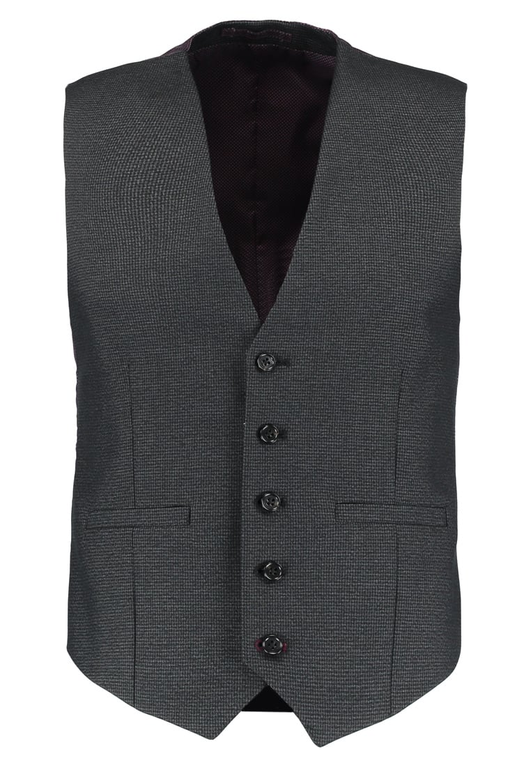 Burton Menswear London PUPPYTOOTH Kamizelka garniturowa grey - 02T03LGRY