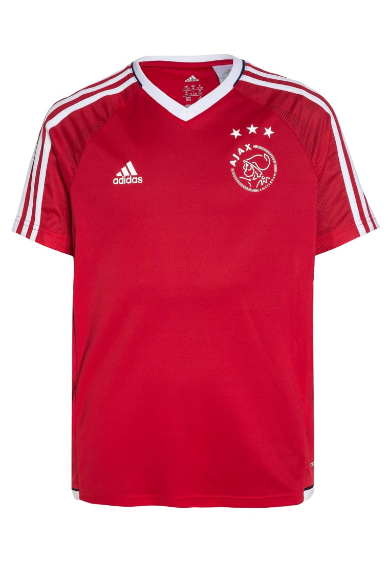 adidas Performance AJAX AMSTERDAM TRAINING Koszulka sportowa bold red/white - DKM08