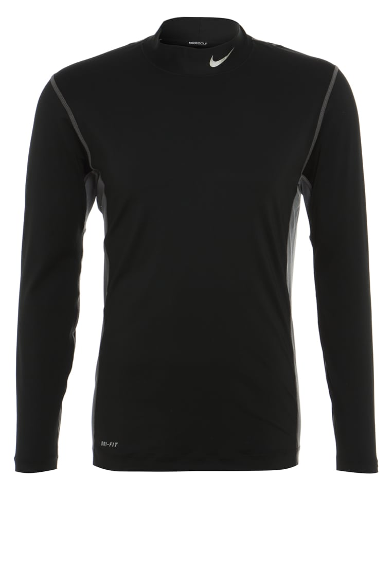 Nike Golf CORE BASE LAYER Bluzka z długim rękawem black/metallic silver - 619799
