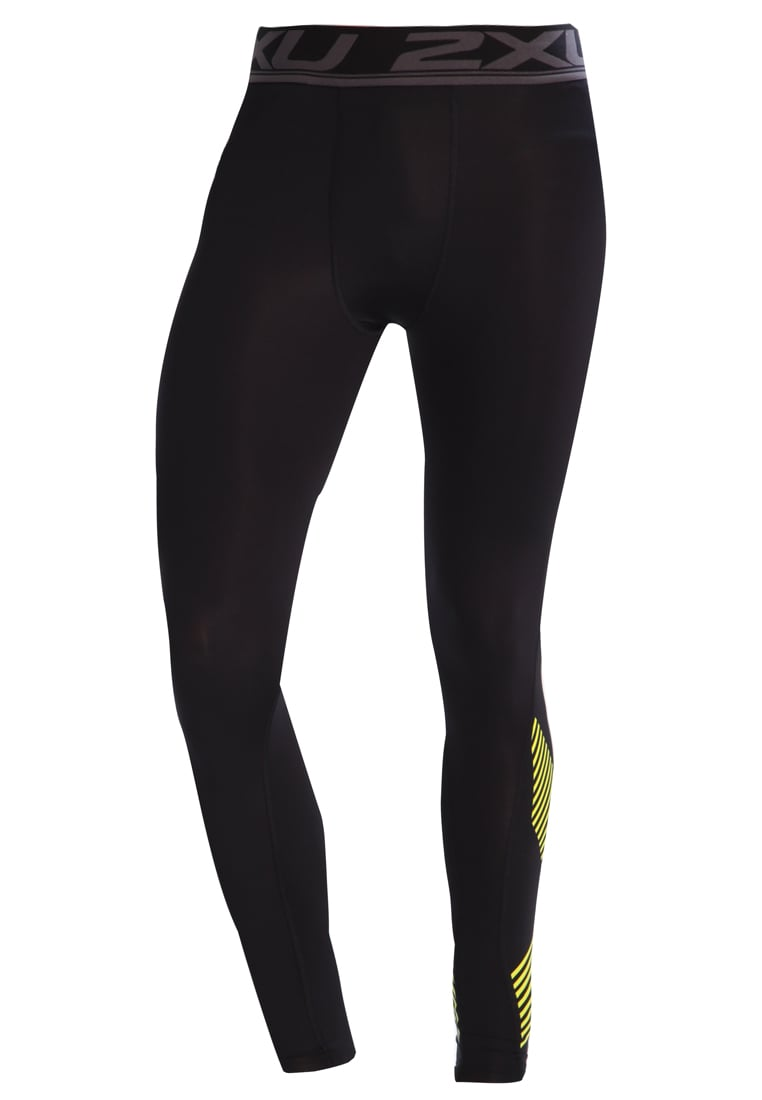 2XU ACCELERATE Legginsy black arrow/lime punch - MA4476b
