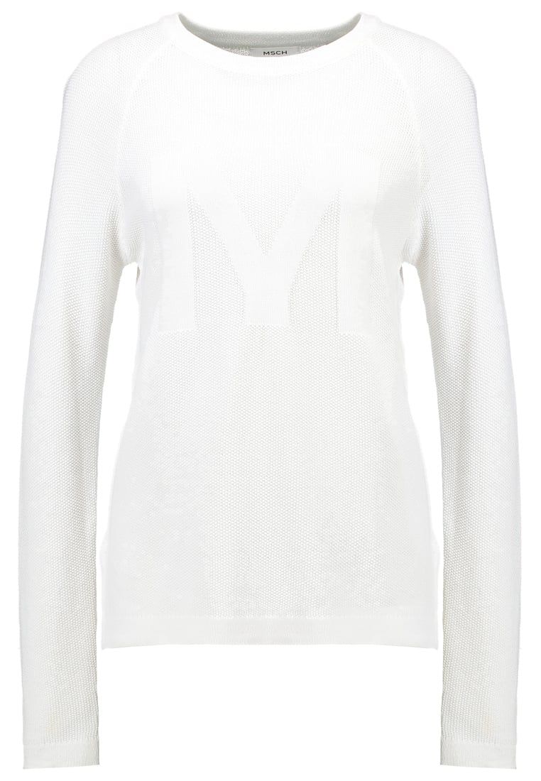 Moss Copenhagen ALICIA LOLLYS Sweter optical white - ALICIA LOLLYS PULLOVER