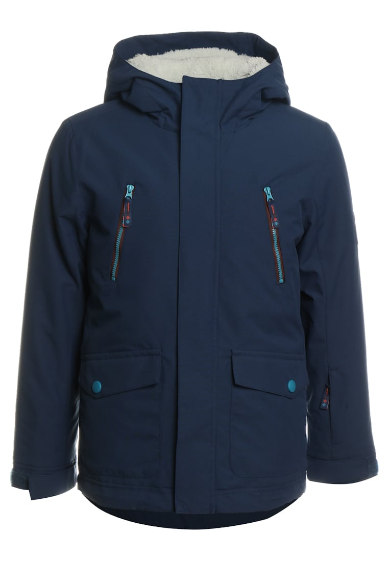 Ziener ABUDO JUN Kurtka snowboardowa estate blue/copper - 177908