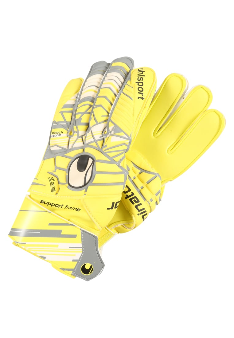 Uhlsport ELIMINATORSOFT Rękawice bramkarskie lite fluo yellow/griffin grey/white - 1011024