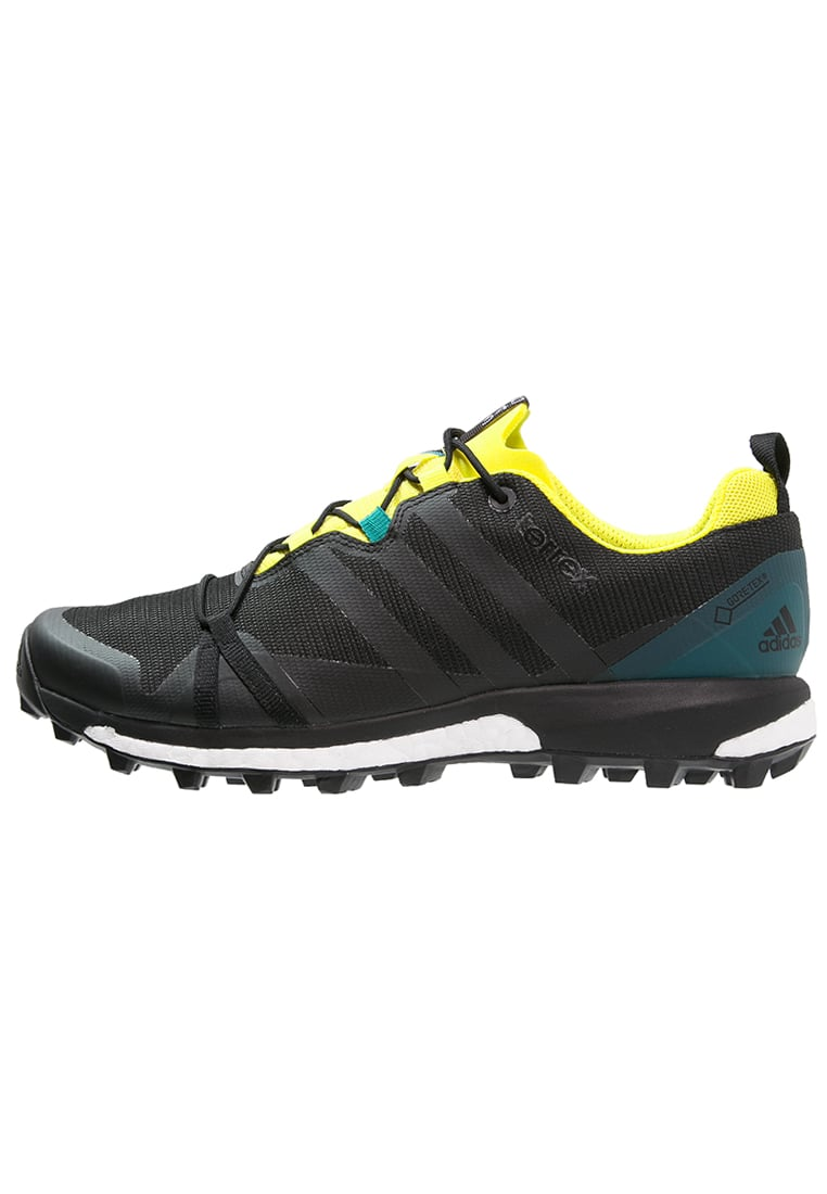 adidas Performance TERREX AGRAVIC GTX Półbuty trekkingowe dark grey/core black/bright yellow - IUW25
