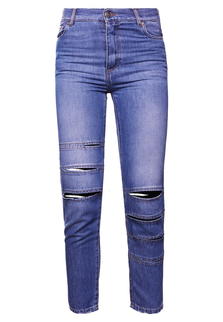 Each x Other BANDS DENIM JEANS Jeansy Slim fit medium blue - SS18G16024