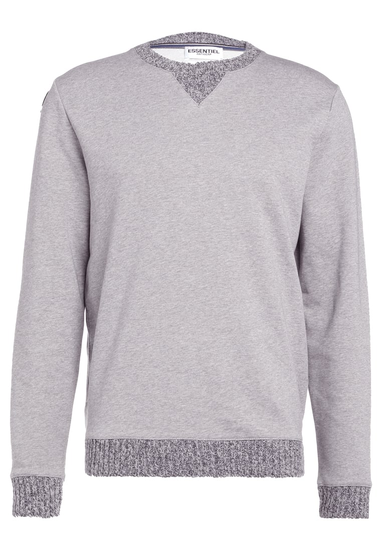 Essentiel Antwerp ILLUSTRATE Bluza grey - M-Illustrate Sweatshirt Knitted Ribs