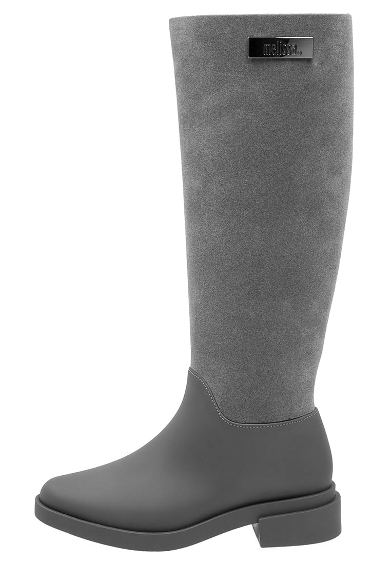 Vivienne Westwood Anglomania + Melissa Kalosze grey - LONG BOOT FLOCK
