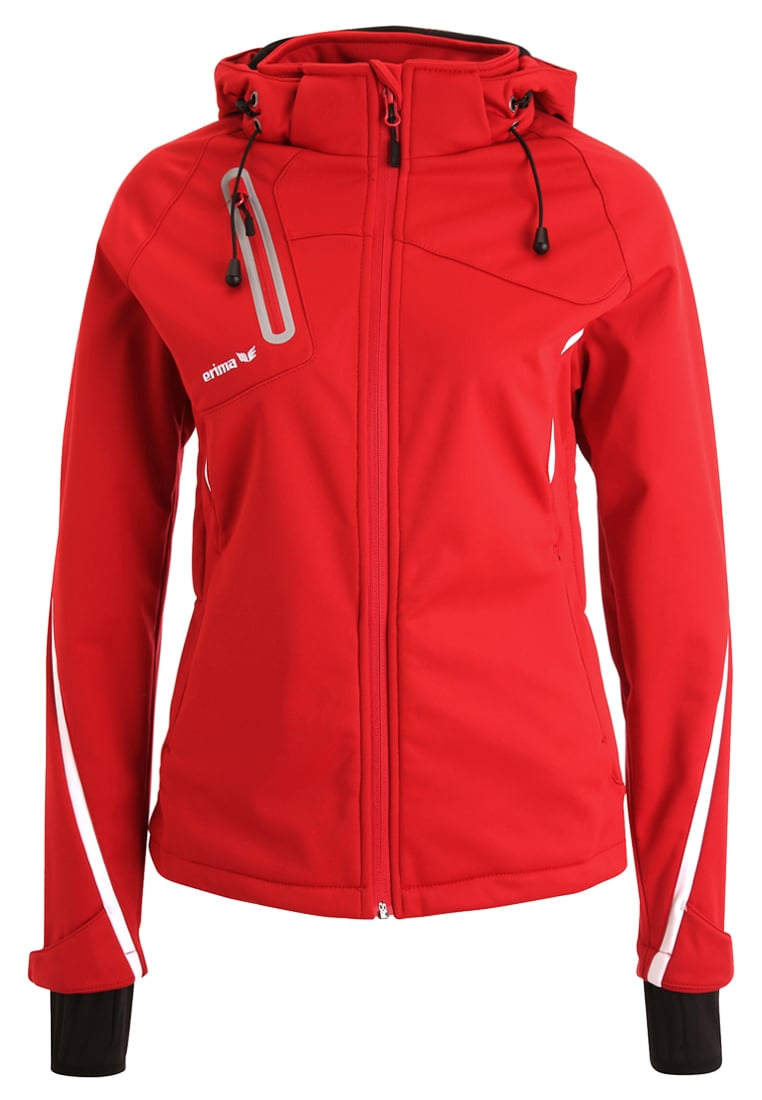 Erima Kurtka Softshell red/white - 07-0176
