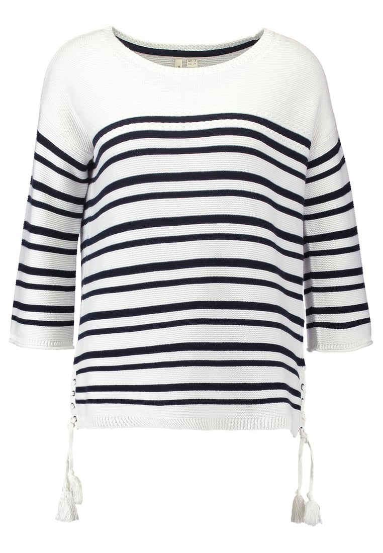 White Stuff CLIFF STRIPE Sweter pearl - 420717