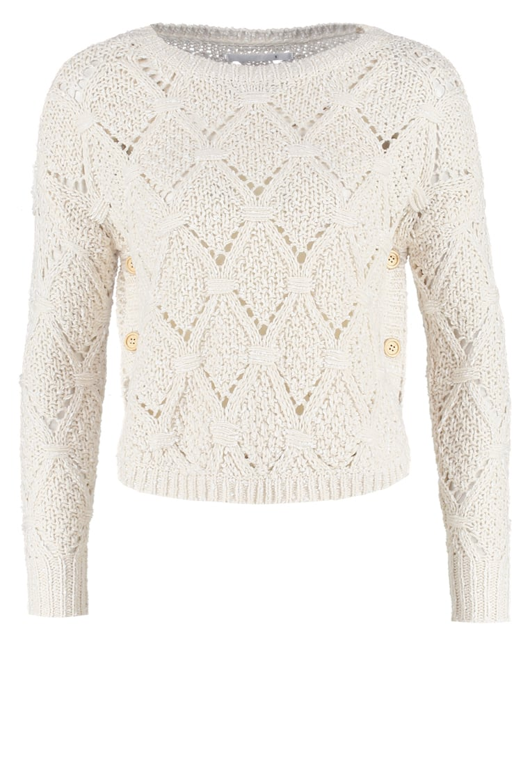Only Petite ONLAMELIA Sweter oatmeal - 15115633