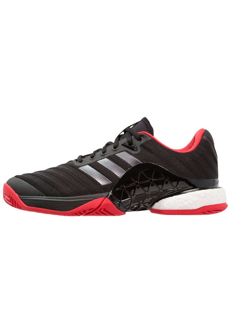 adidas Performance BARRICADE 2018 BOOST Buty multicourt core black/night metallic/scarlet - EFQ97