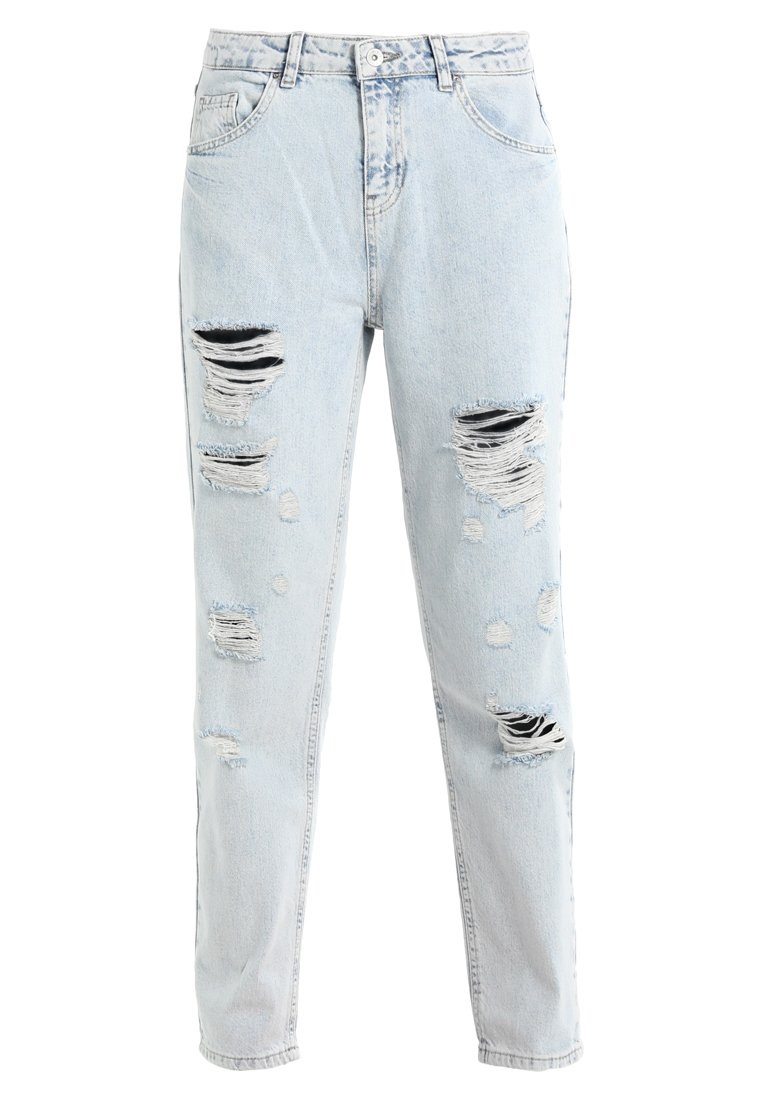 Benetton CROP COLOUR LONG TROUSERS Jeansy Relaxed Fit light blue - 4YO7573H4