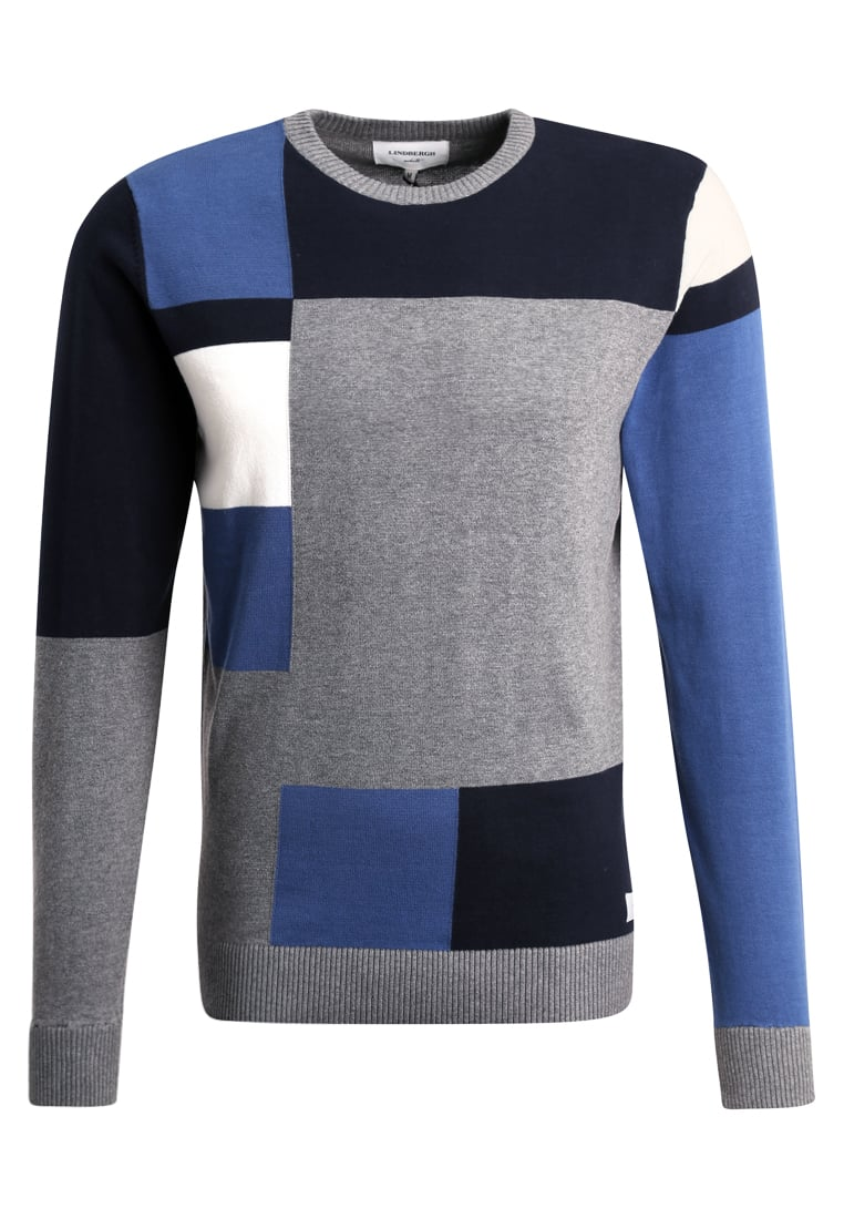 Lindbergh COLOUR BLOCK Sweter blue mix - 30-81122