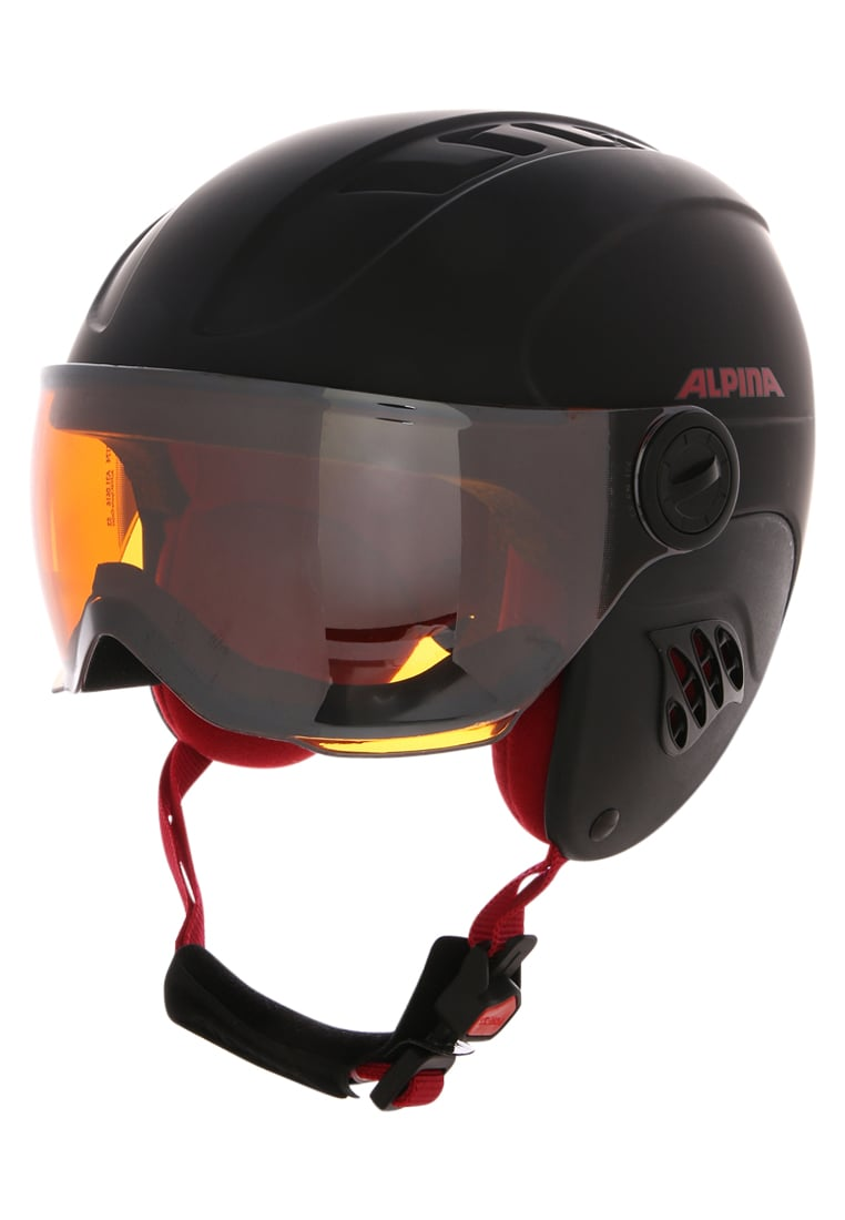 Alpina CARAT LE VISOR Kask black red matt - A9084