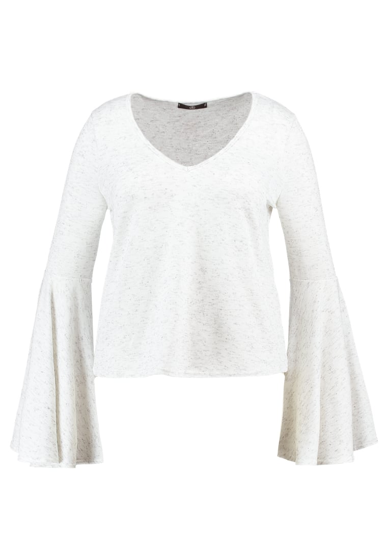 Missguided Plus BELL SLEEVE Sweter white - WSV9772117