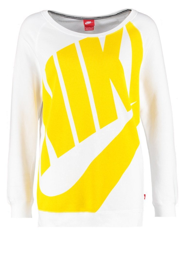 Nike Sportswear RALLY EXPLODED Bluza white/varsity maize  taniej o 50%
