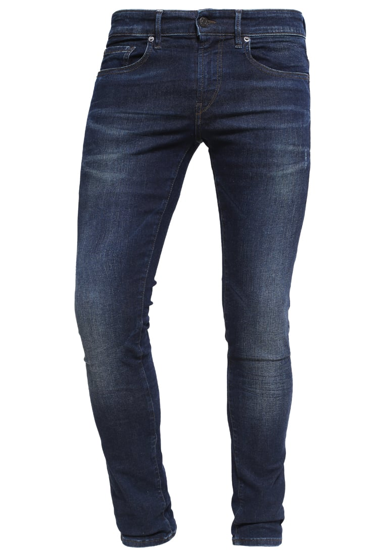 BOSS Orange Jeansy Slim fit navy - 50320372