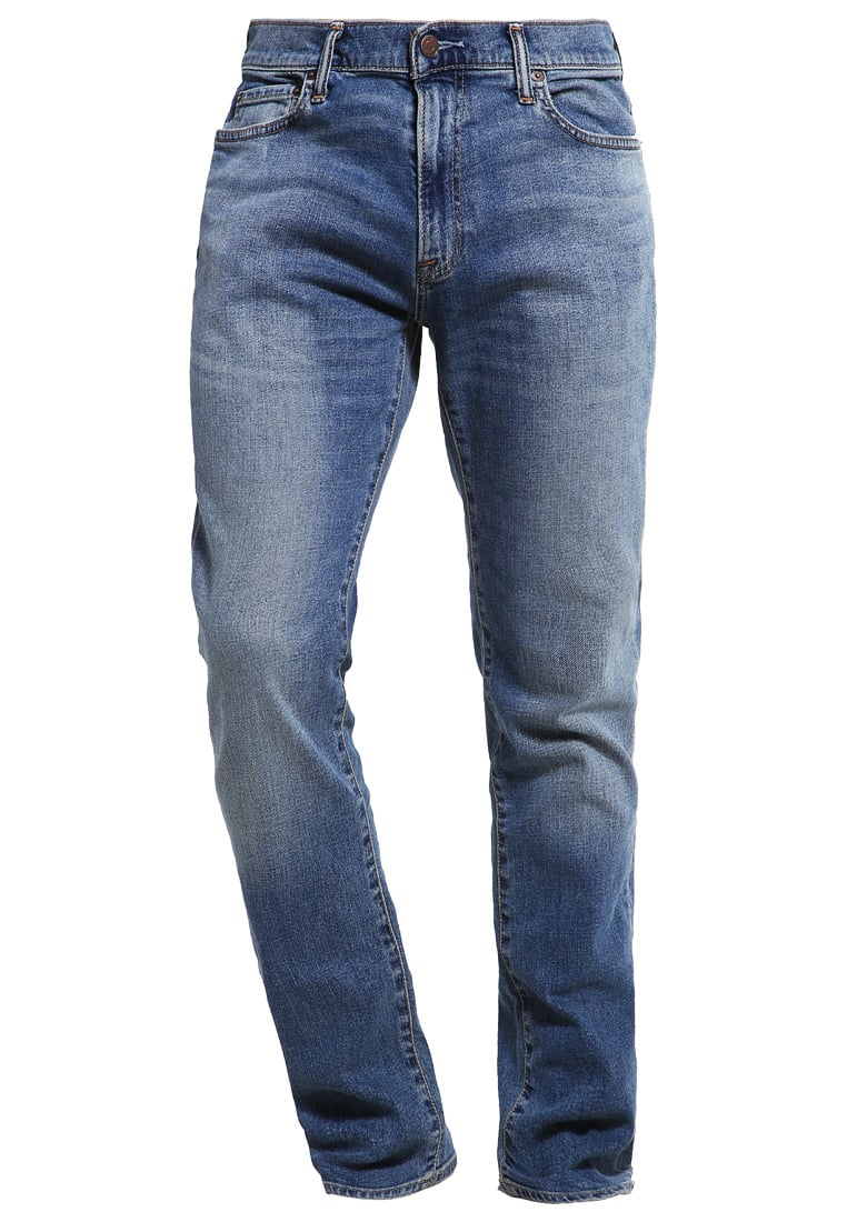 Abercrombie & Fitch SLIM STRAIGHT Jeansy Slim fit medium wash - KI131-6106