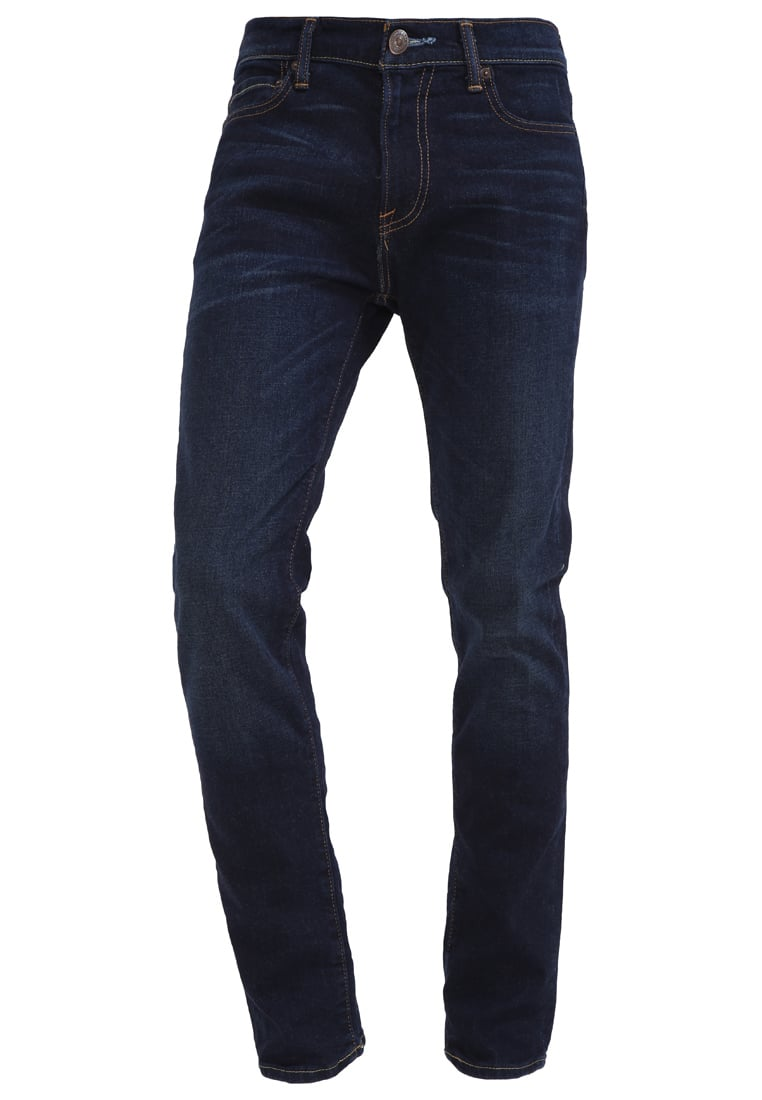 Abercrombie & Fitch Jeansy Slim fit dark blue denim - KI131-6107