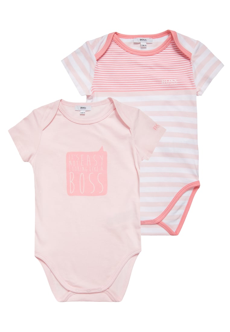 BOSS Kidswear 2 PACK Body baby pink - J98183