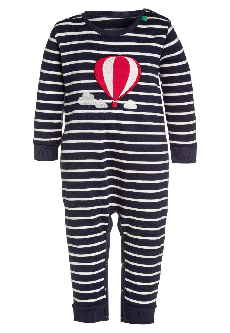 Fred's World by GREEN COTTON BALLOON STRIPE Kombinezon navy/cream - 1584026400