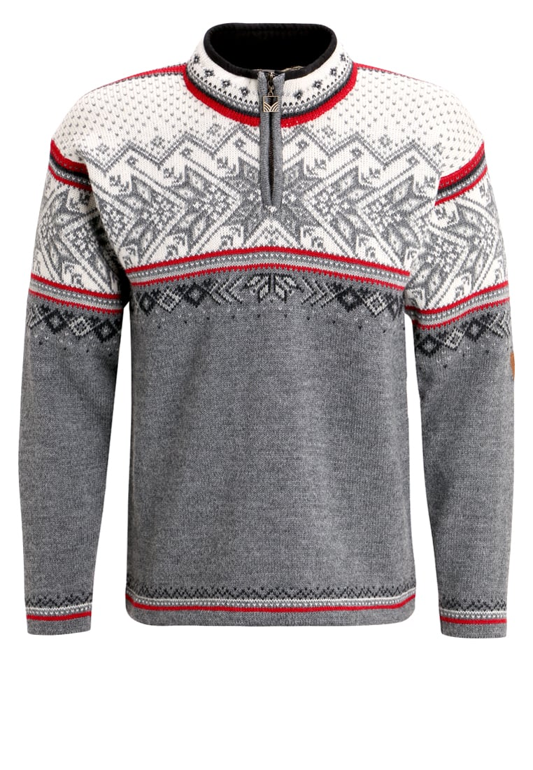 Dale of Norway VAIL Sweter smoke/raspberry/off white/dark charcoal - 90331