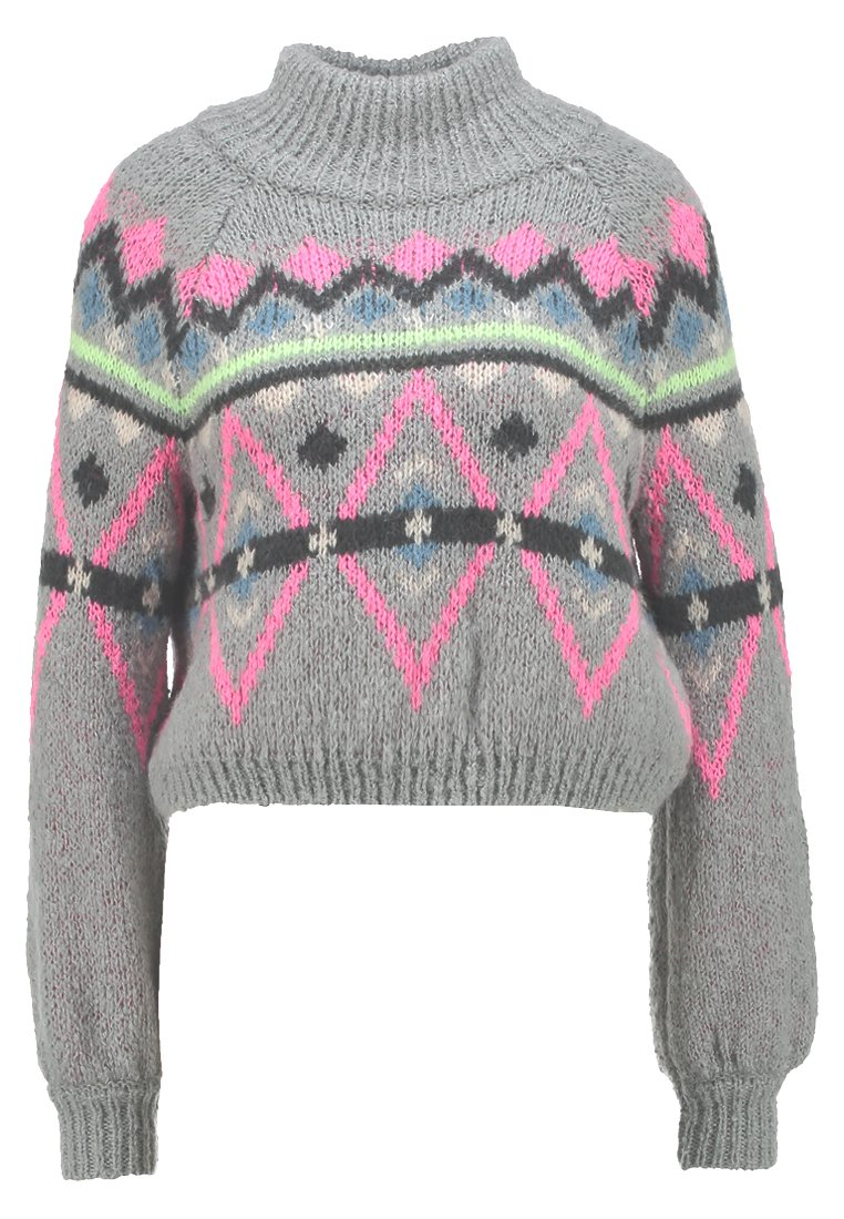 Hollister Co. Sweter med grey pattern